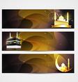stylish set of ramadan banners vector image vector image