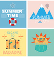 Summer Time Recreation Banner vector image vector image