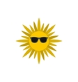 Sun face with sunglasses icon flat style vector image vector image