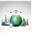 travel world background vector image