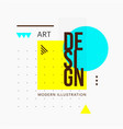 trendy minimalistic geometric shape design vector image vector image