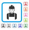 worker framed dolor icon vector image vector image