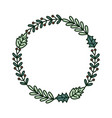 wreath branches garland ribbon merry christmas vector image