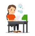 Young businesswoman at workplace vector image vector image