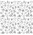 Greeting wishes icons seamless black and white vector image