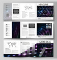 business templates tri fold square brochures vector image