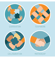 teamwork and cooperation concept vector image