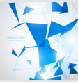 abstract polygonal space low poly background vector image vector image