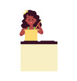 african american little girl helps at home flat vector image vector image