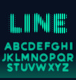 alphabet font made with bold lines vector image