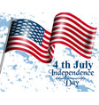 american flag happy independence day 4th vector image
