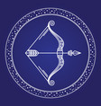 astrology zodiac horoscope sagittarius sign vector image vector image