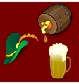 Beer Barrel Hat vector image vector image