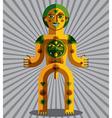 Bizarre creature cubism graphic modern pict vector image vector image