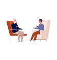 boy and grandfather family talking men have vector image vector image