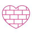 brick heart vector image vector image