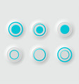 buttons white set background vector image vector image