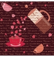 card with coffee and hearts vector image vector image