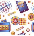 casino gambling games and dollar coins seamless vector image vector image