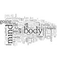 choose to integrate body mind soul vector image vector image