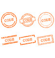 code stamps vector image