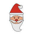 color image cartoon front view face santa claus vector image