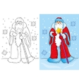 Coloring Book Of Santa Claus Or Father Frost vector image vector image