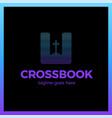 cross bookmark logotype bible book logotype vector image