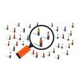 crowd behaviors measuring social sampling vector image vector image