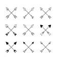 decorative bow arrows vector image vector image