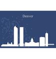 Denver city skyline on blue background vector image vector image