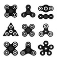 different black and white spinners vector image