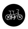 double bike black icon sign on isolated vector image vector image