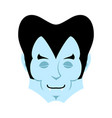 dracula sleeps emoji vampire dream emotion face vector image vector image