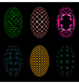 Easter eggs on a black background vector image vector image