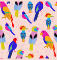 exotic tropical birds paradise parrot toucan vector image