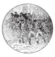 george washington marching to trenton vintage vector image vector image