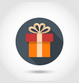 Gift box flat icon vector image vector image