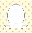 hand drawn decorative frame on sweet cake backgrou vector image vector image