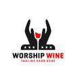 handmade wine logo vector image vector image