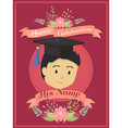 Happy Graduation Boy Red Greeting Card vector image