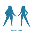 healthy and unhealthy lifestyle concept healthy vector image