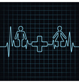 Heartbeat make malefemale and medical symbol vector image vector image
