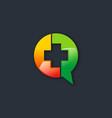 hospital cross talk media logo vector image vector image