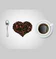 i love coffee quote top view vector image