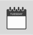 icon calendar days week tuesday vector image vector image