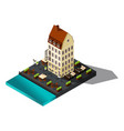 isometric 3d house sea restaurant denmark co vector image