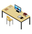 isometric working place vector image