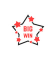 linear star icon like big win badge vector image