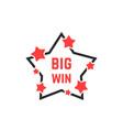 linear star icon like big win badge vector image vector image